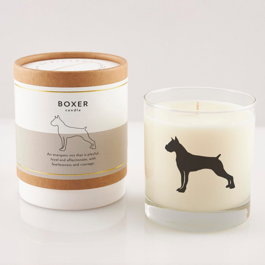 Boxer Soy Candle Gift via ScriptedFragrance on Etsy