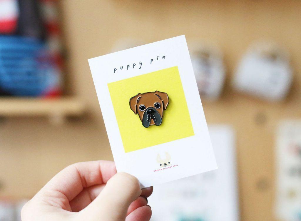 Boxer Dog Puppy Pin via FrenchBulldogLove on Etsy