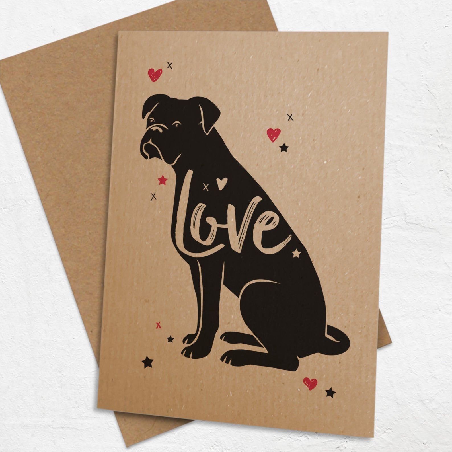 Boxer Dog Greeting Card via WellBredDesign on Etsy