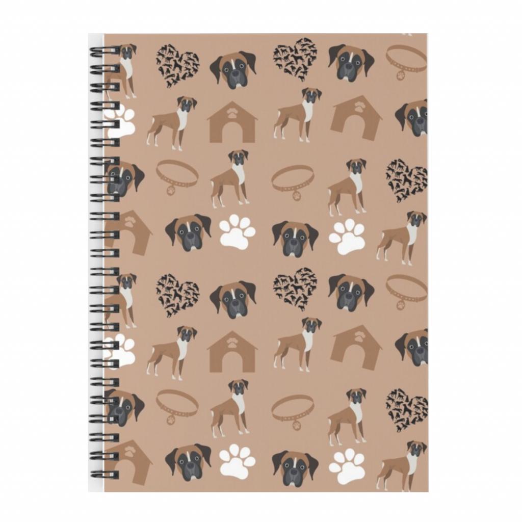 Boxer Dog Spiral Notebook via Redbubble
