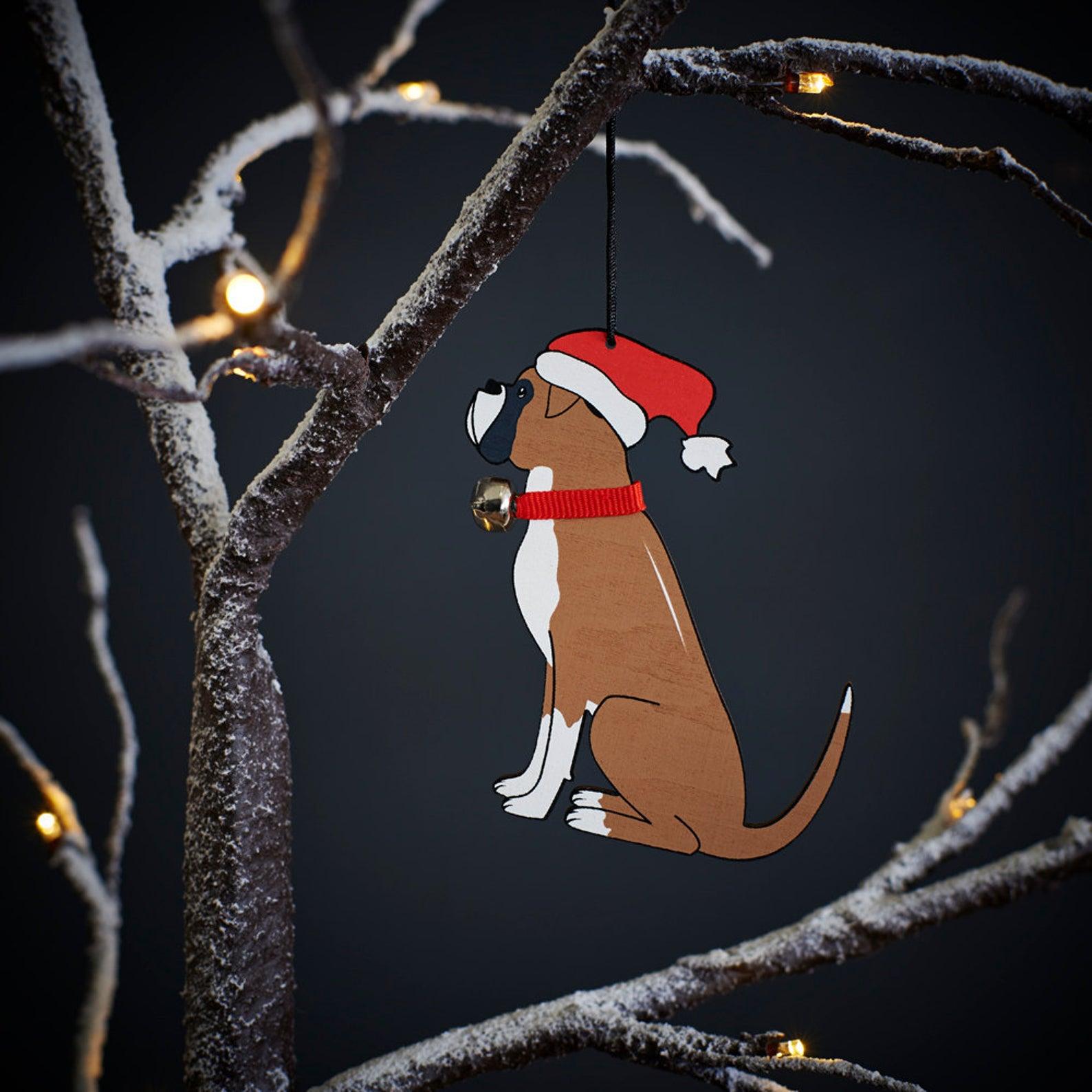 Boxer Dog Christmas Ornament via SweetWilliamLondon on Etsy