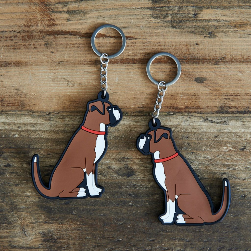 Boxer Dog Key Ring Key Chain via SweetWilliamLondon on Etsy