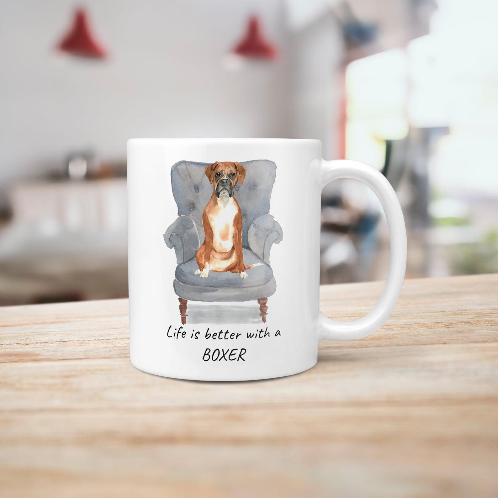 Life is Better with a Boxer Mug via MrsHenris on Etsy