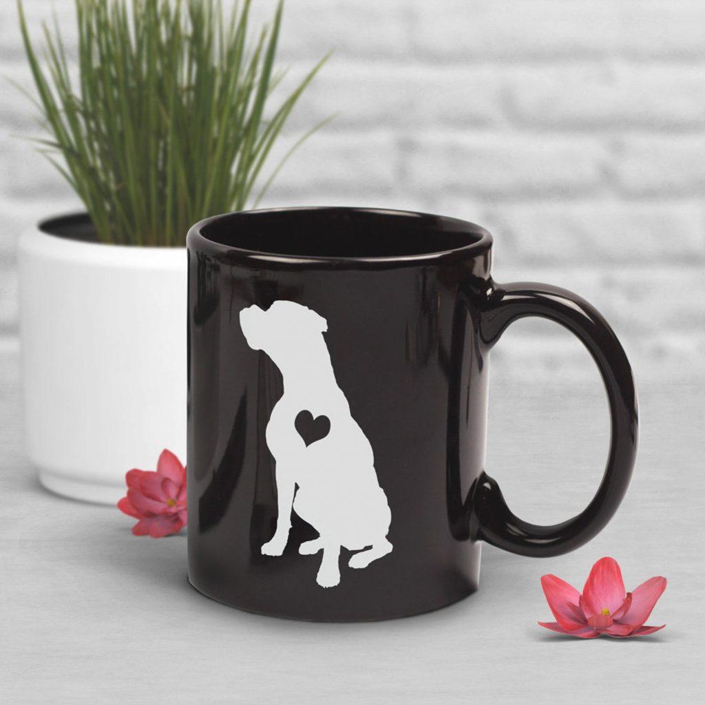 Boxer Mug (Black) via HippoandKelpie on Etsy