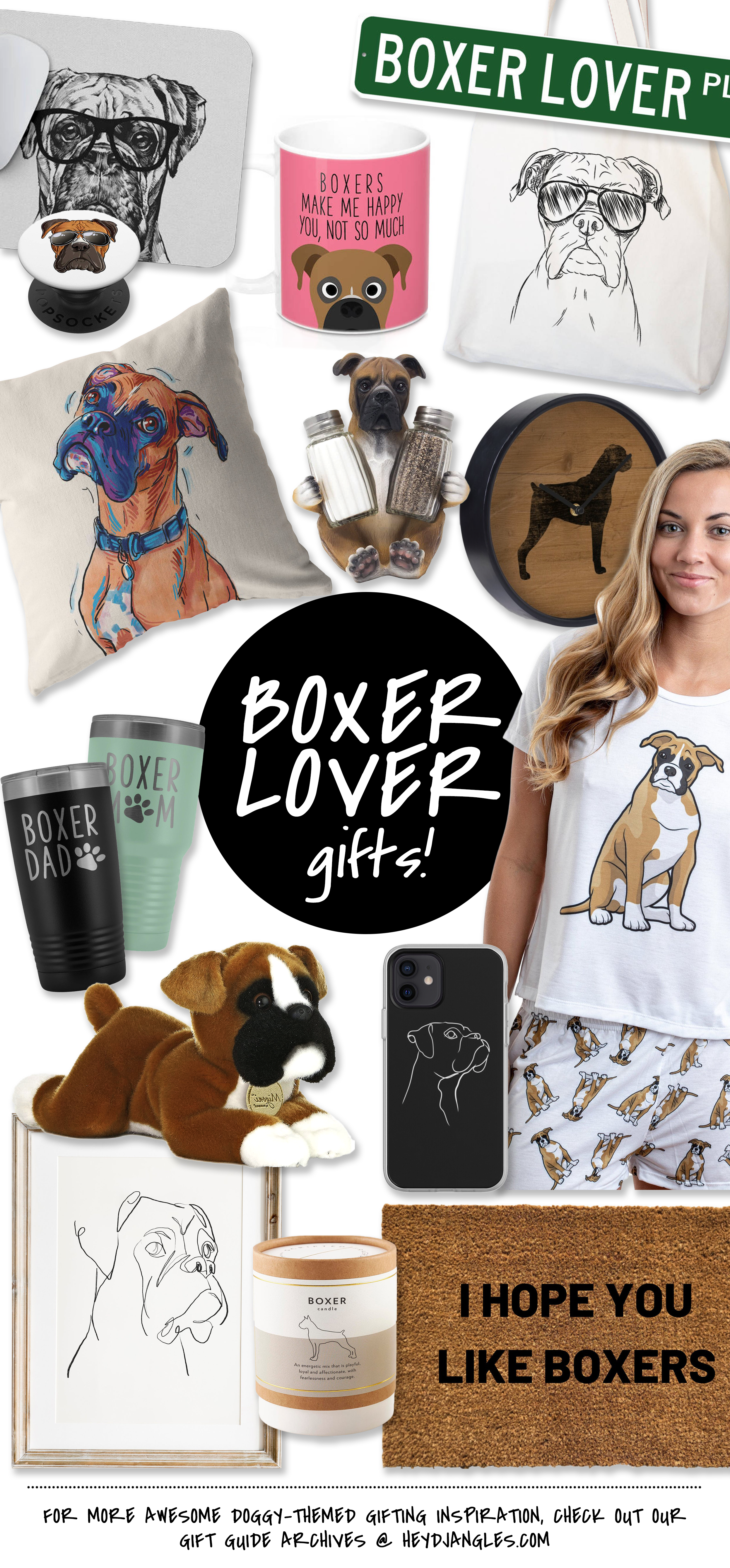 40+ Awesome Boxer Dog Gifts for Boxer Lovers - Hey, Djangles. Boxer dog breed, gift ideas, Boxer dog merchandise, Boxer dog-themed gifting inspiration #boxerdog #giftguide #boxerlover