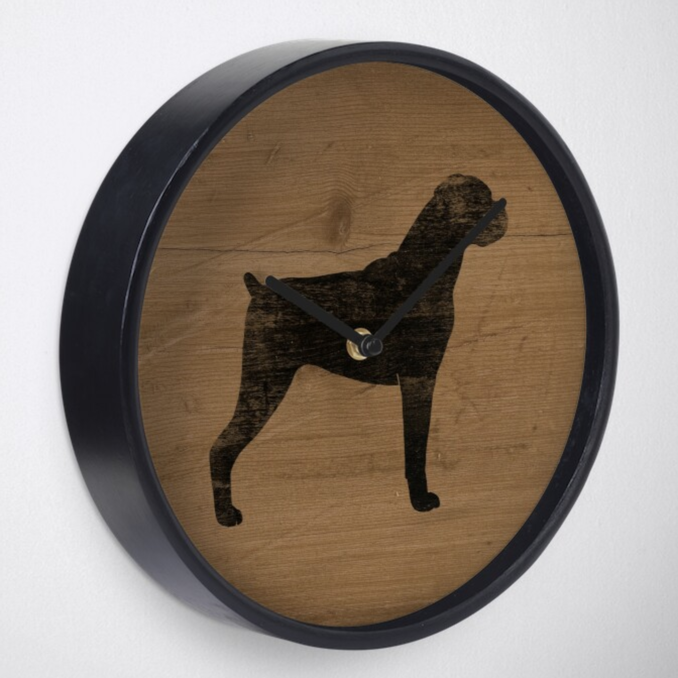 Boxer Dog Clock via Redbubble