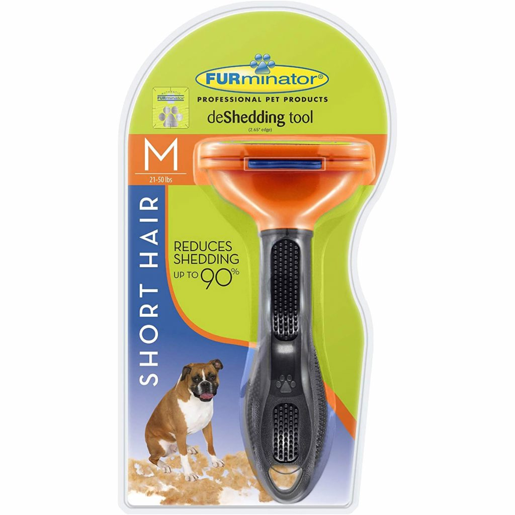 FURminator deshedding tool for short hair via Amazon