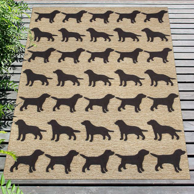 Labrador Dogs Rug via Pottery Barn
