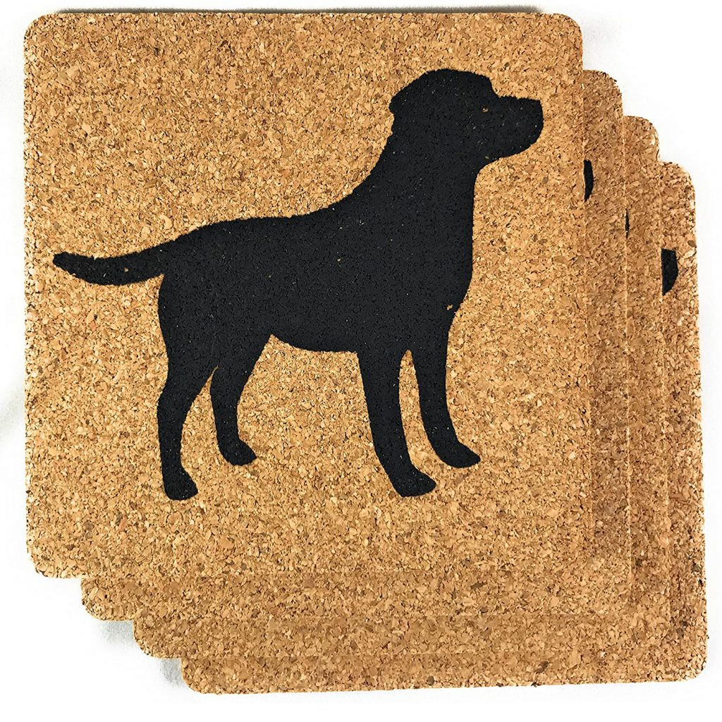 Black Labrador Coasters via Amazon