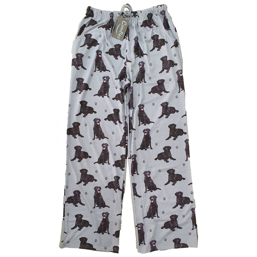 Black Labrador PJ Bottoms via Etsy, Labrador Themed GIfts