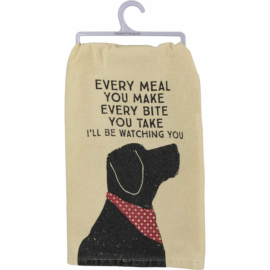 Black Labrador Tea Towel via Amazon