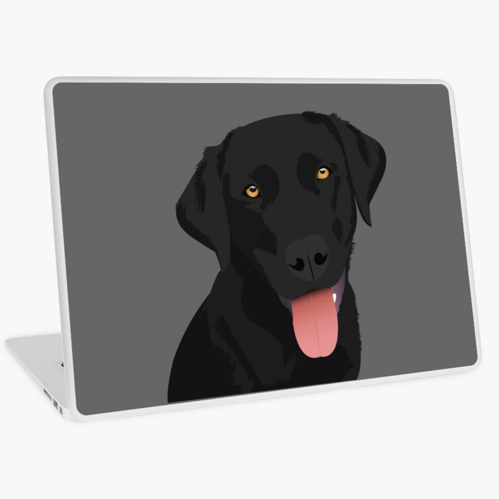 Black Lab Laptop Skin via Redbubble