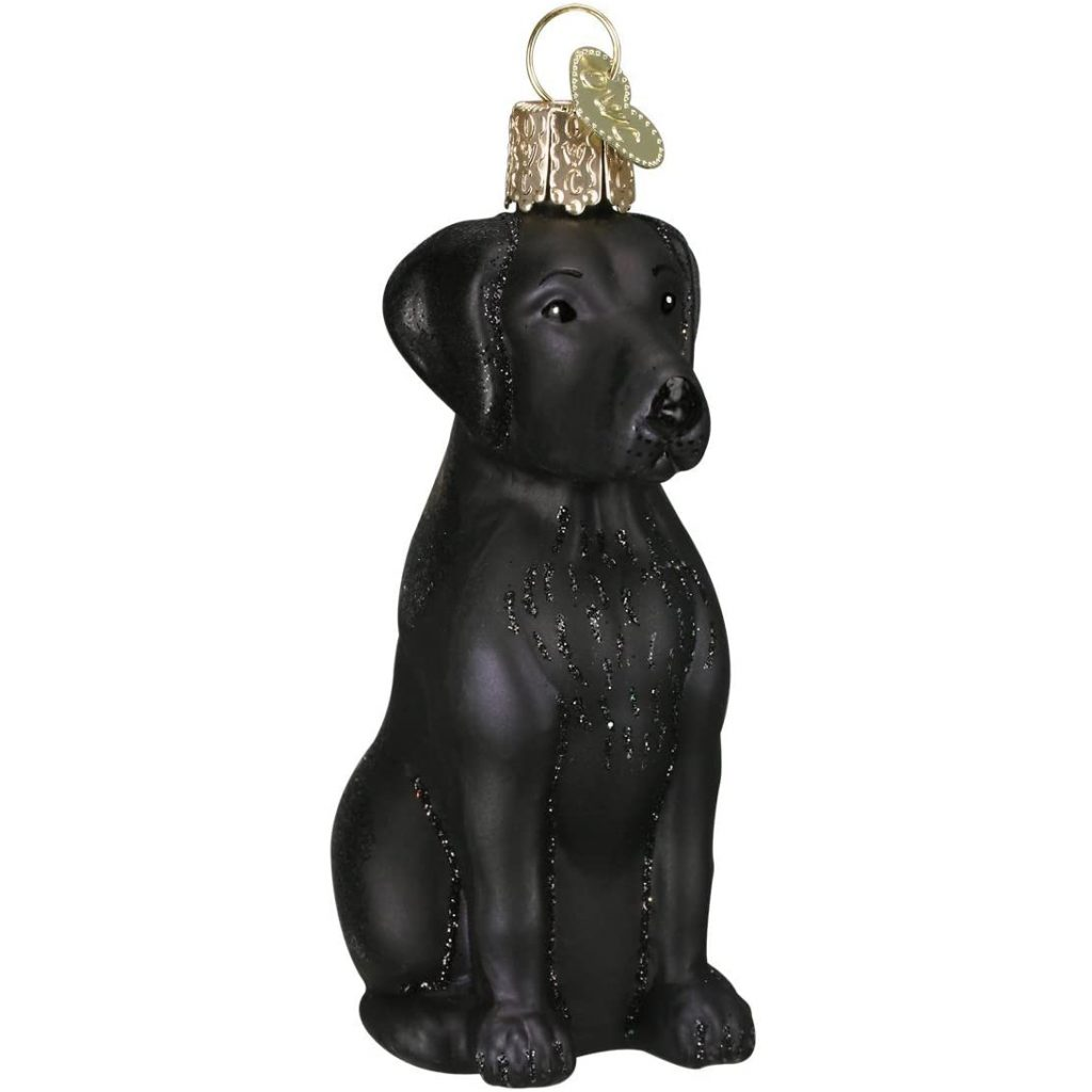 Black Lab Christmas Ornament via Amazon, Labrador Themed GIfts