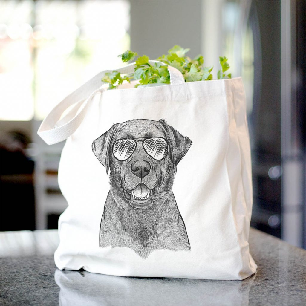 Black Lab Canvas Tote Bag via Etsy