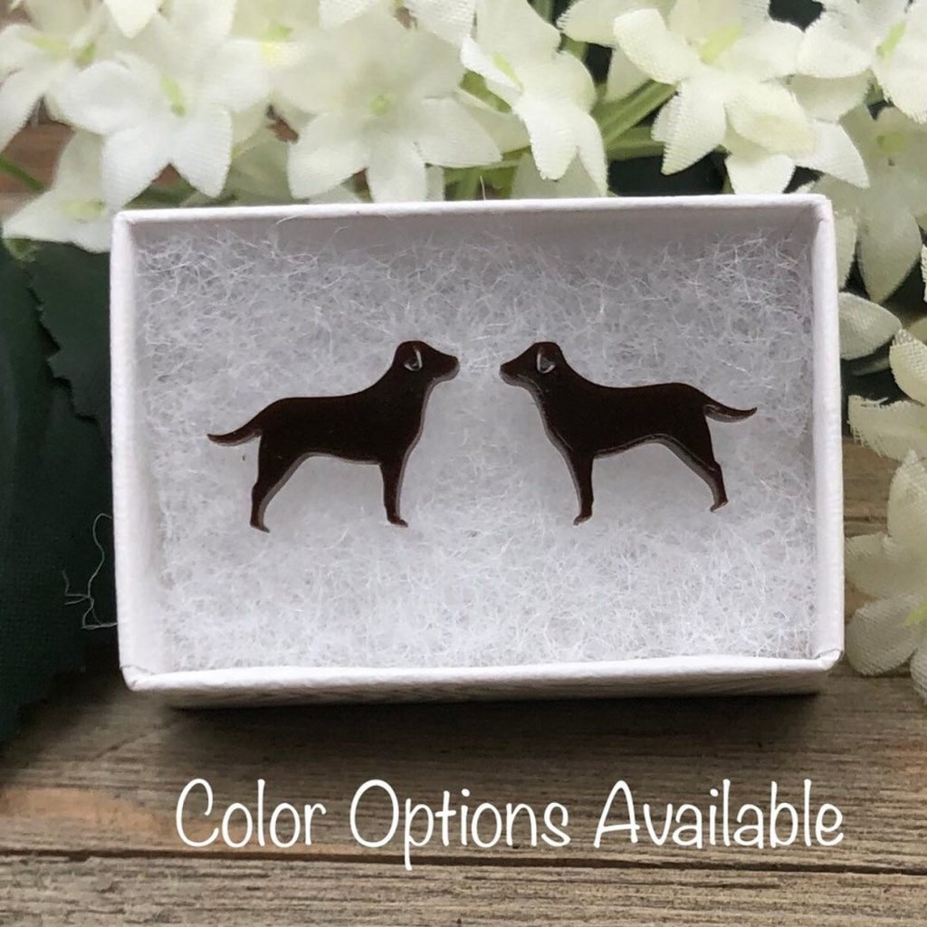 Labrador Acrylic Earrings via Etsy