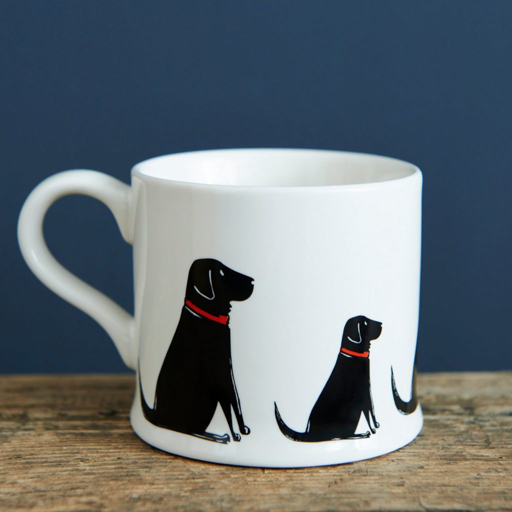 Black Labrador Mug via Etsy