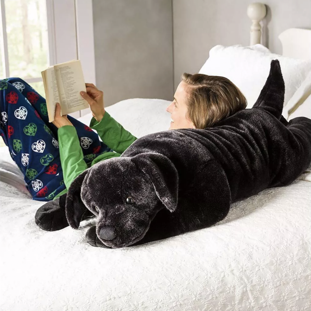 Black Labrador Body Pillow via Target, Labrador Themed GIfts