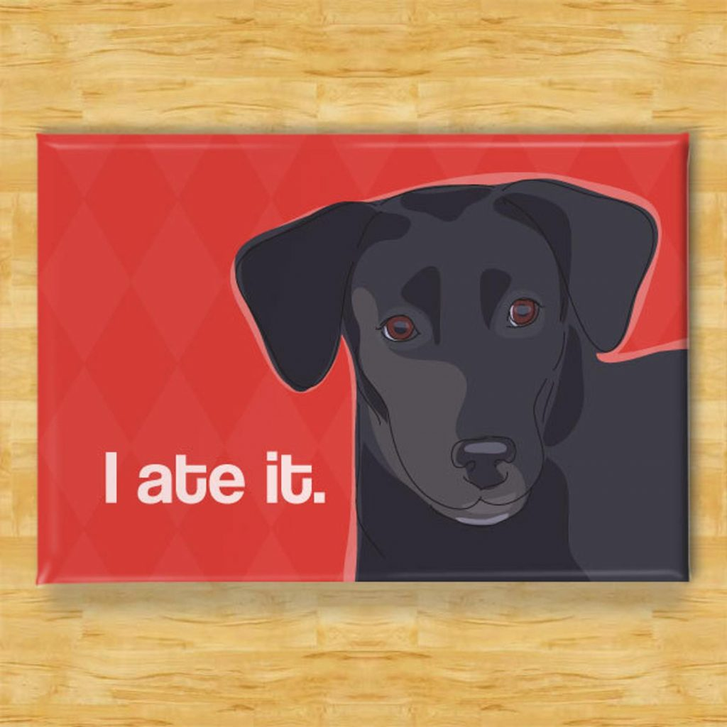 Funny Black Lab Magnet via Etsy
