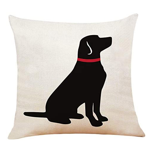 Black Lab Throw Pillow via Amazon, Labrador Themed GIfts