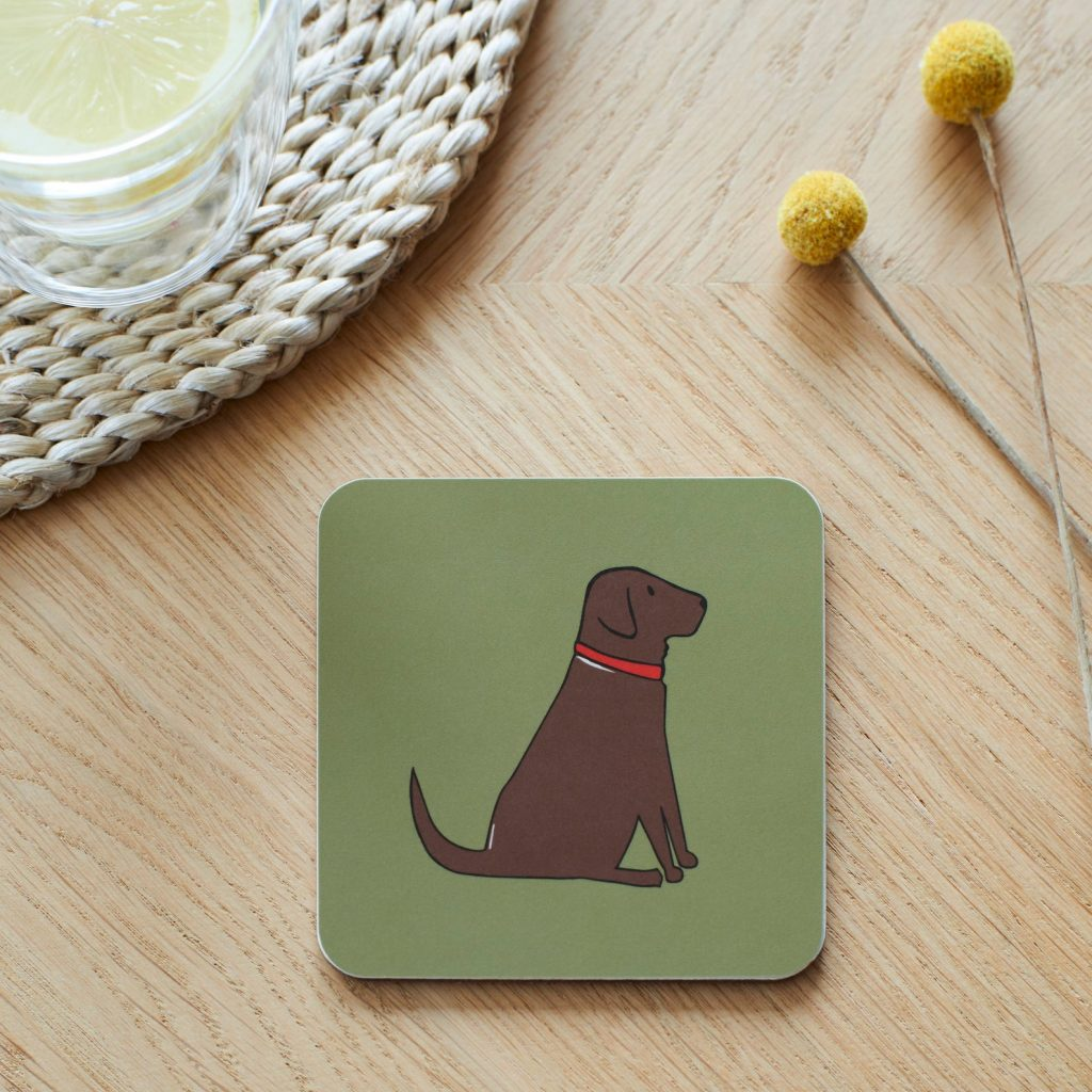 Chocolate Labrador Coasters via Etsy