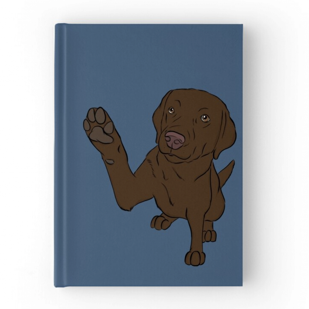Chocolate Lab Journal via Redbubble