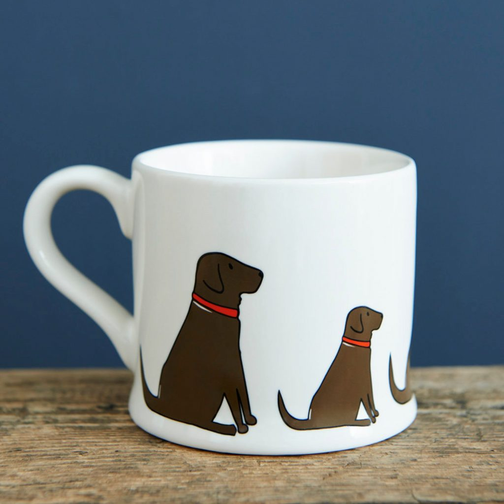 Chocolate Labrador Mug via Etsy, Labrador Themed GIfts