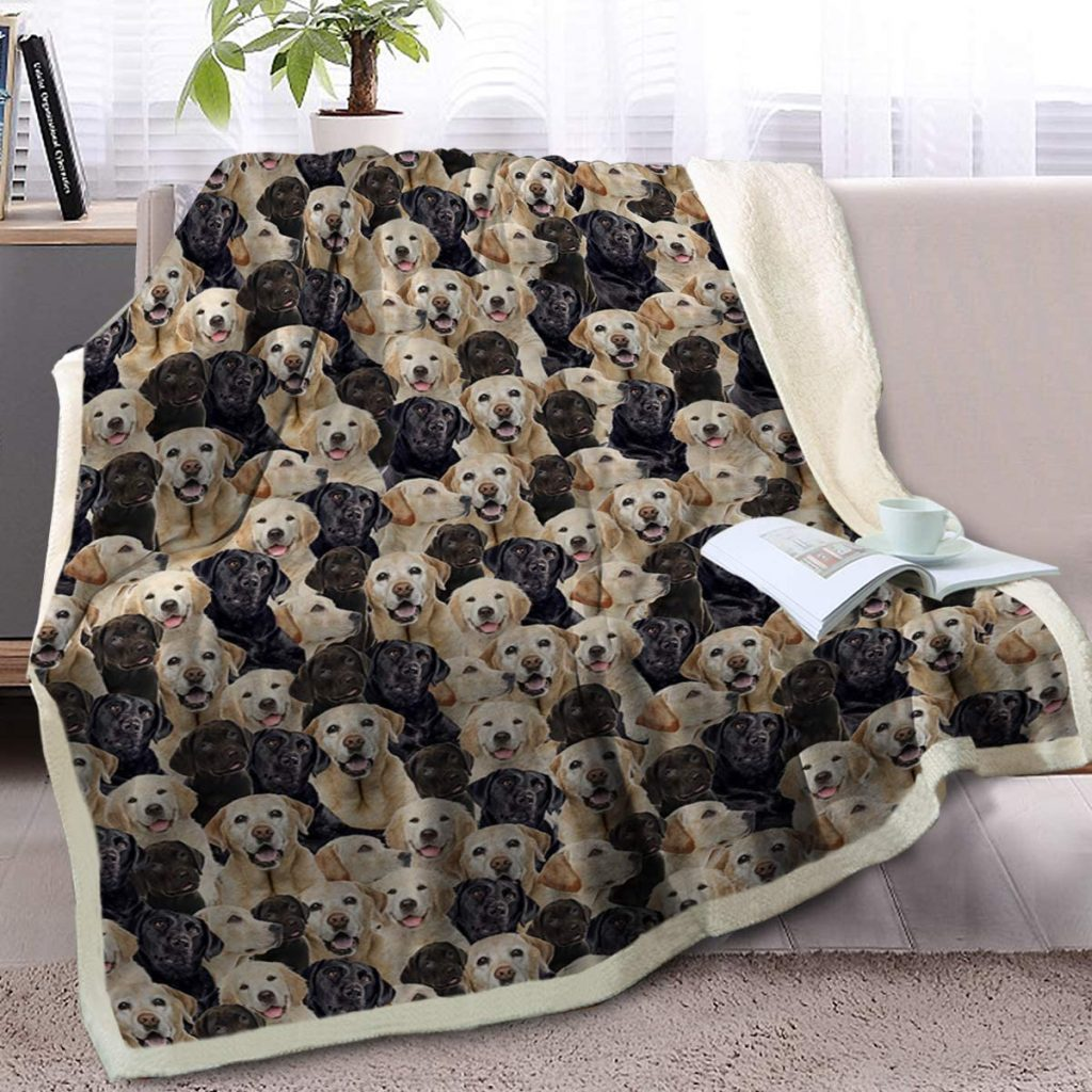 Labrador Blanket (Reversible) via Amazon