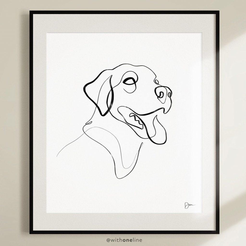 Labrador Line Art via Etsy