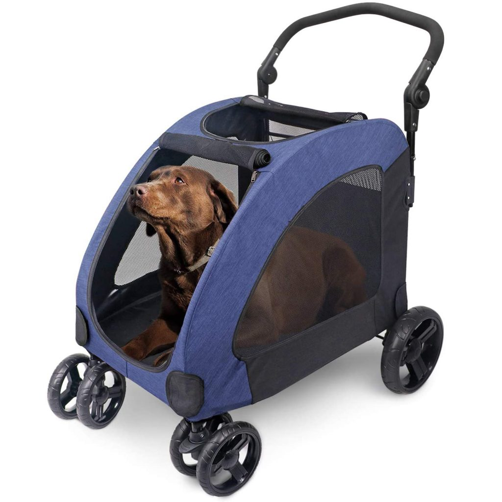 WOOCE Dog Stroller for Medium-Large Dogs via Amazon