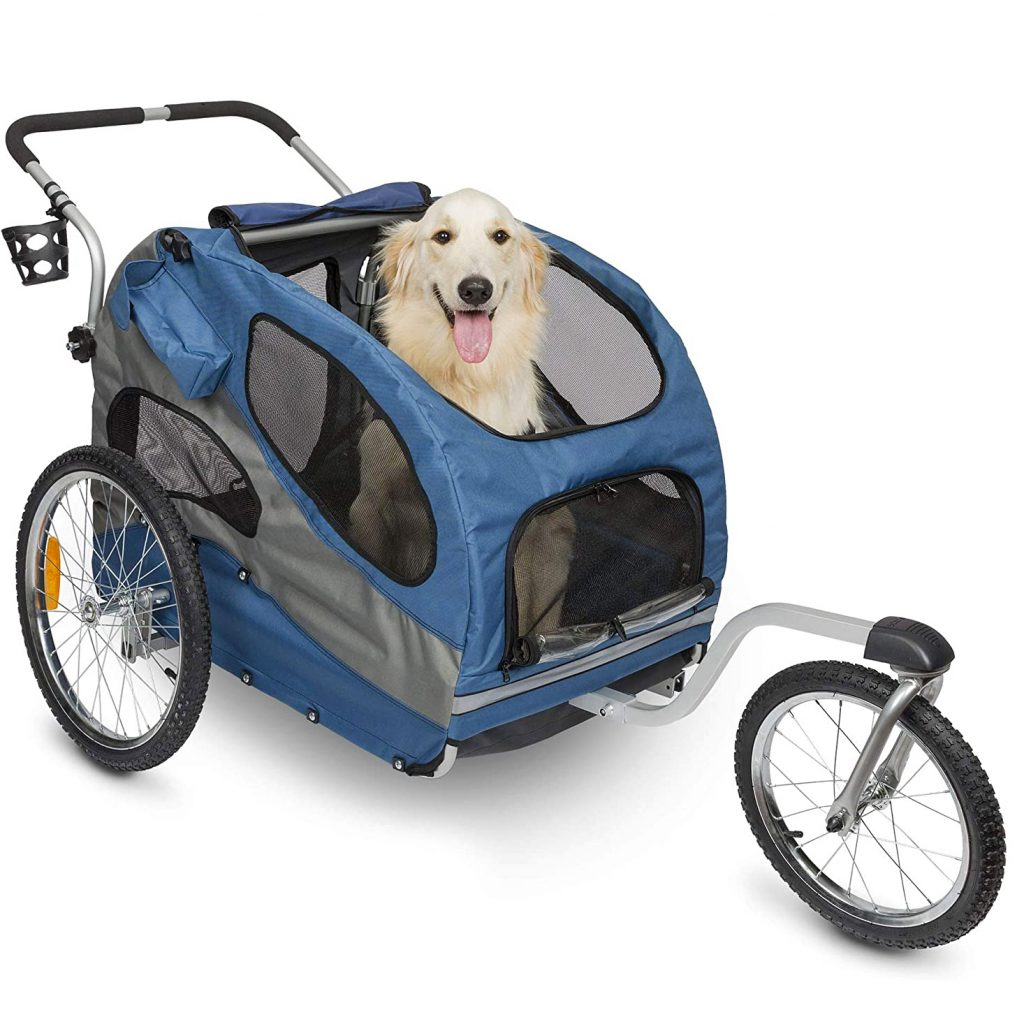 PetSafe Happy Ride Aluminum Dog Bike Trailer + Stroller Conversion Kit via Amazon