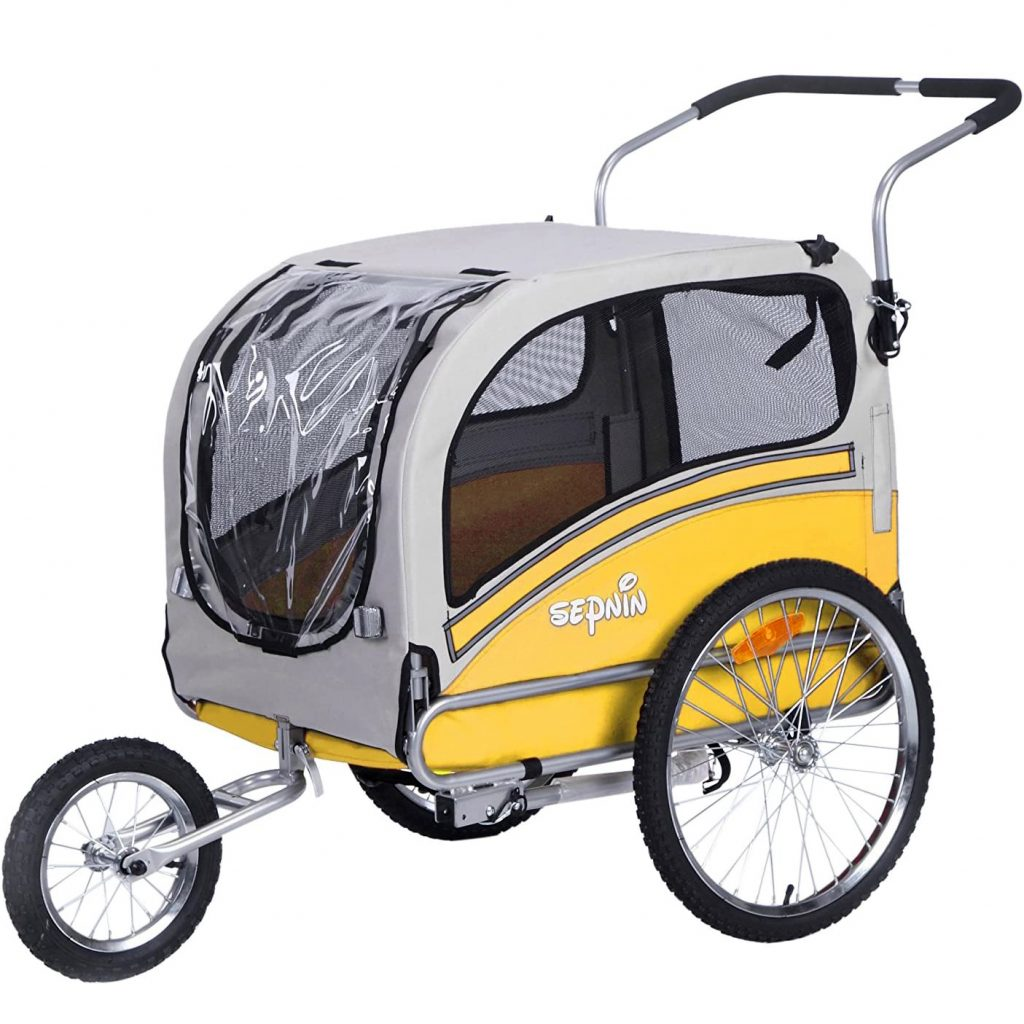 Sepnine Pet Bicycle Trailer and Jogger via Amazon