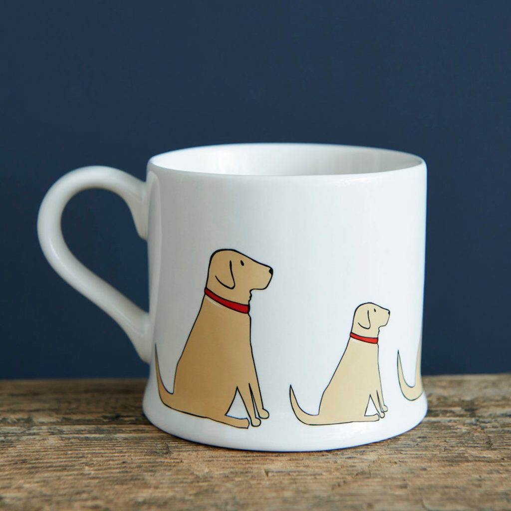Yellow Labrador Mug via Etsy, Labrador Themed GIfts