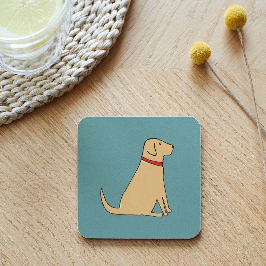 Yellow Labrador Coasters via Etsy