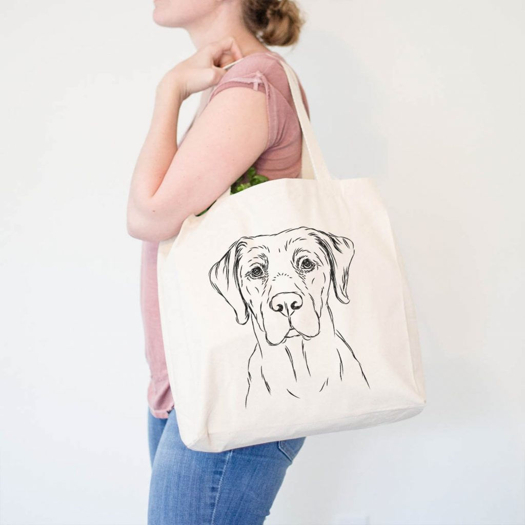Labrador Canvas Tote Bag via Etsy