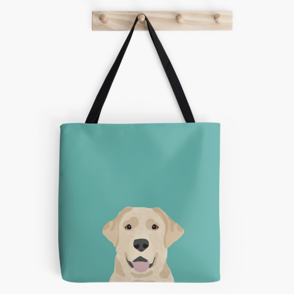 Labrador Tote Bag via Redbubble