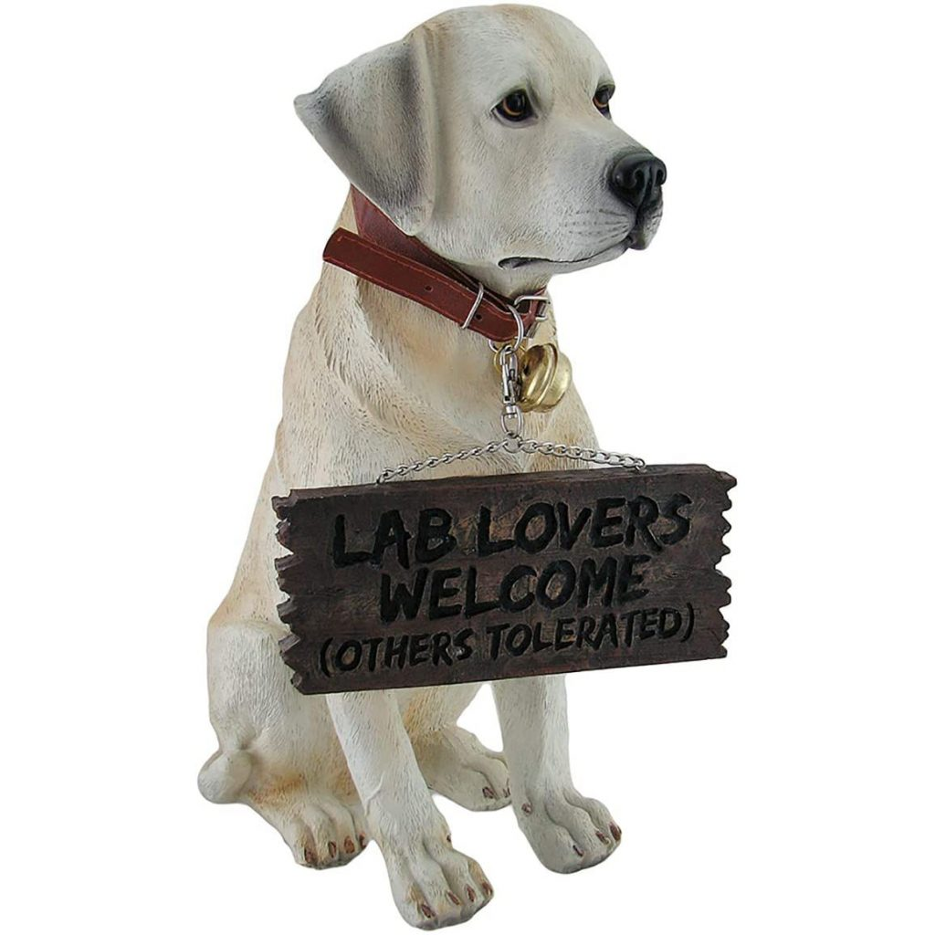 Labrador Garden Statue via Amazon
