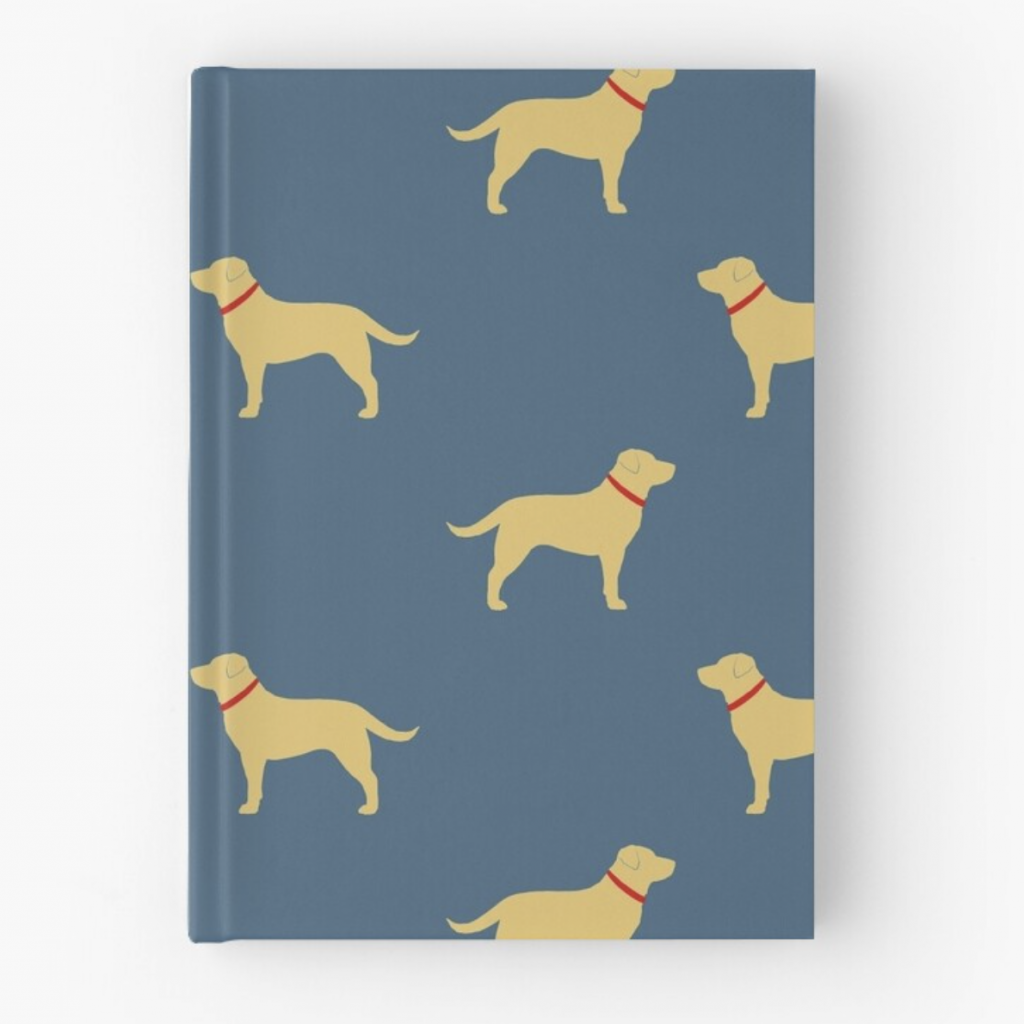 Labrador Hardcover Journal via Redbubble