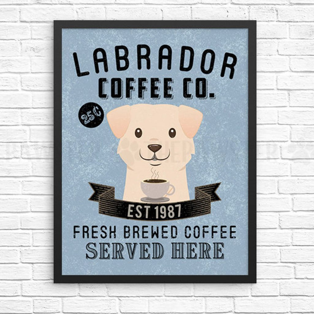 Labrador Coffee Wall Art via Etsy