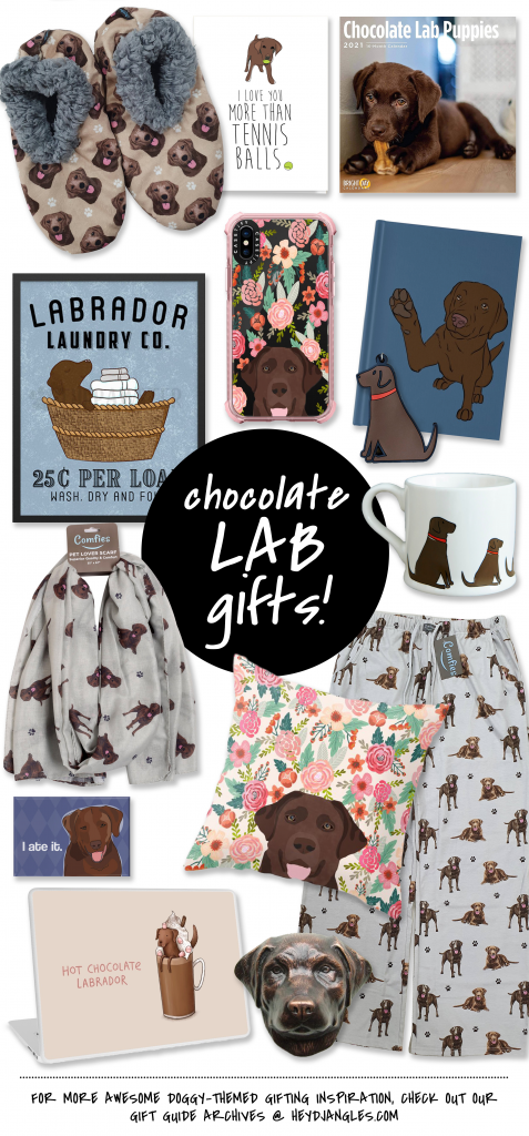 80+ Cute Labrador Themed Gifts for the Lab Lover in Your Life - Chocolate Lab gifts, dog lover gift ideas.