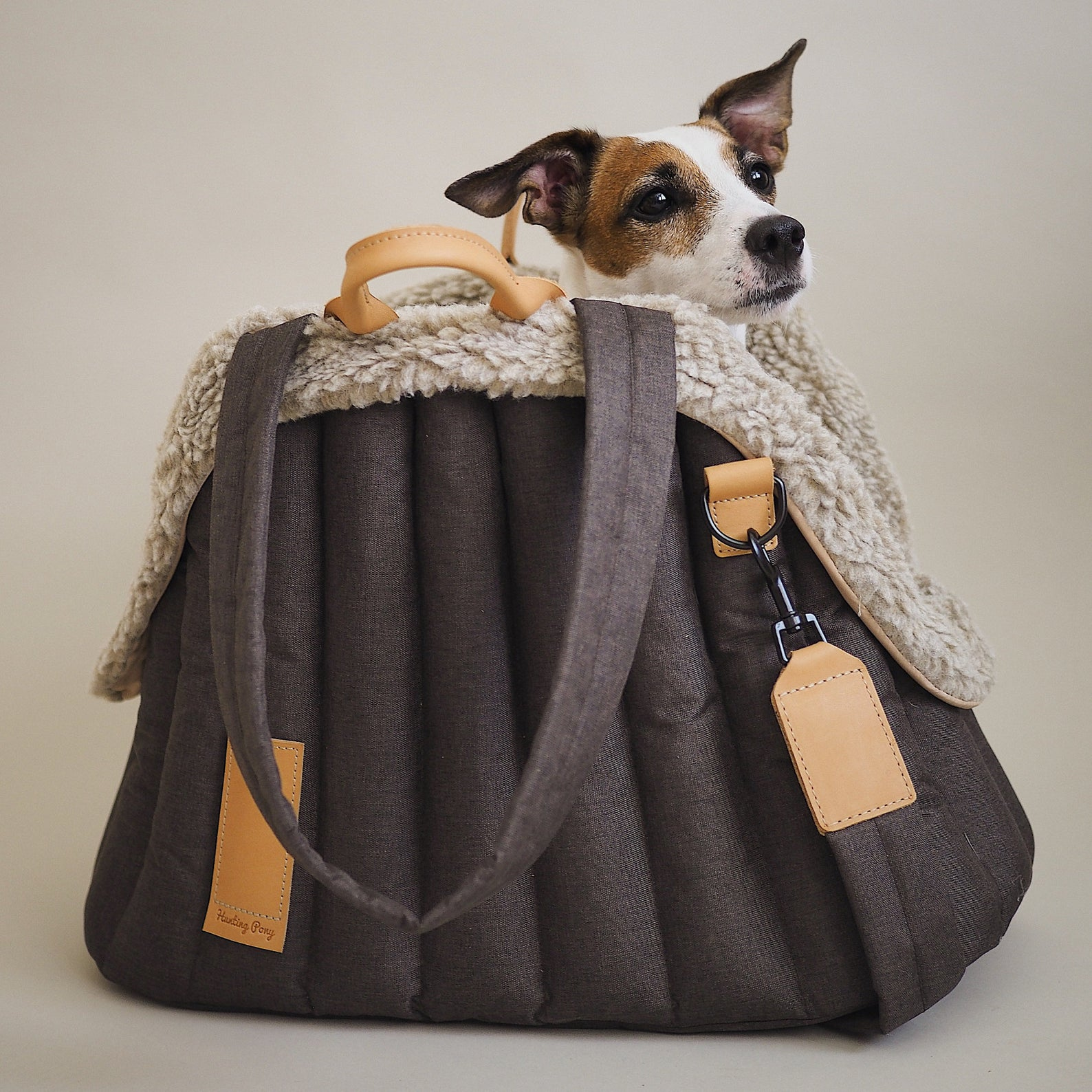 Image via Hunting Pony (Etsy) feat. 'Waterproof Open Dog Carrier Pet Tote'