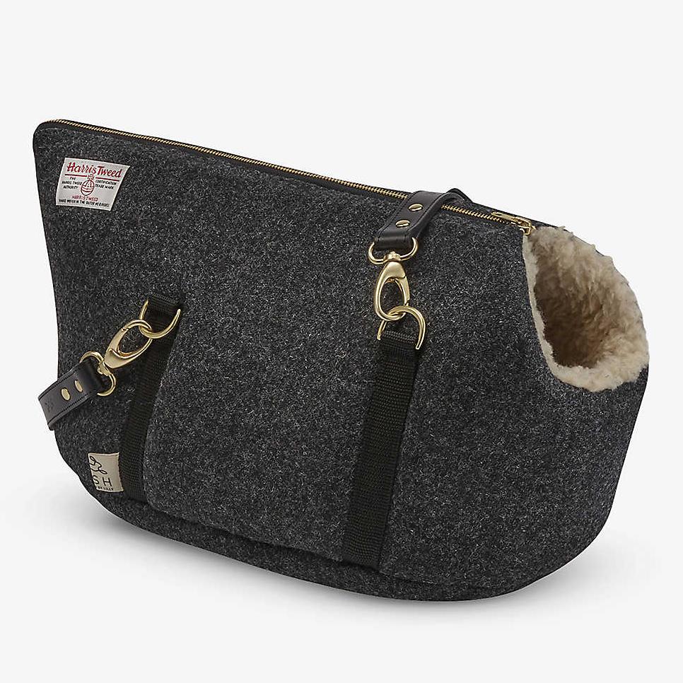 'Lish Bardsey Harris Tweed Wool Blend Pet Carrier' via Selfridges