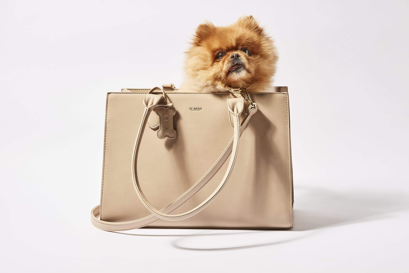 20+ Discreet Dog Purse Carrier Options For Stylish Pups - Image via St Argo Melbourne (Etsy) feat. 'St Argo Melbourne 'Lola' Beige Dog Carrier'
