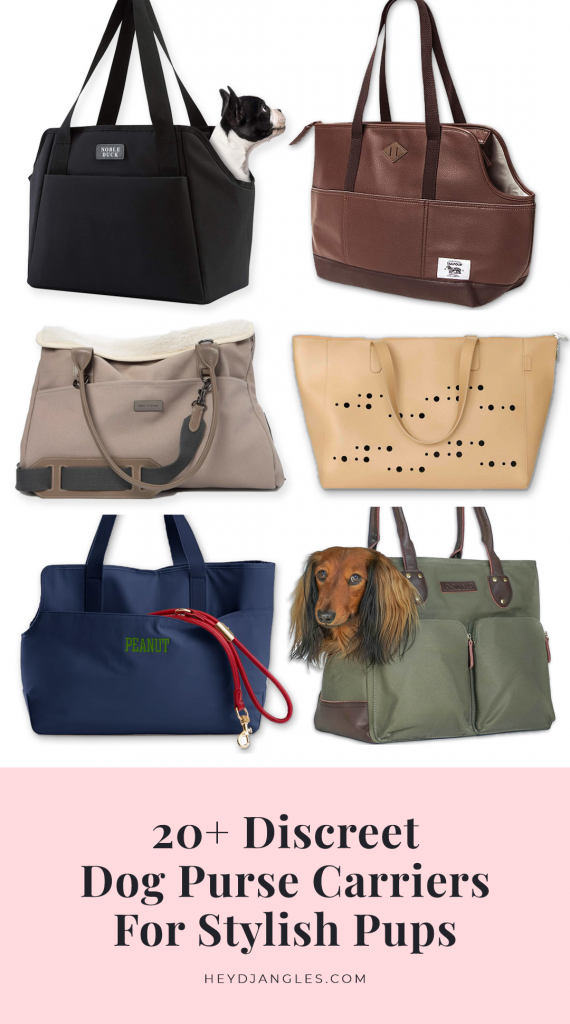 20+ Discreet Dog Purse Carrier Options For Stylish Pups - Max bone, Django Brand, Noble Duck, Teddy Maximus, Wagwear, Wild One, Lish, St Argo Melbourne and more