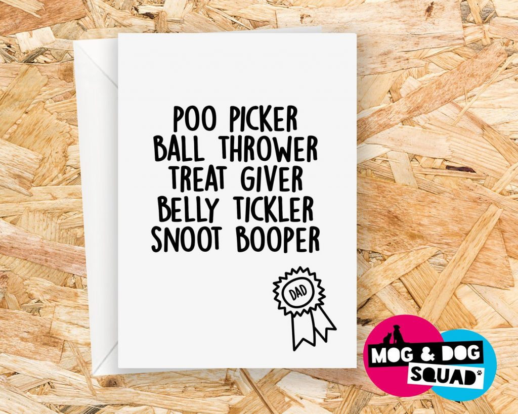 Funny Dog Dad Card (The Squad Store – Etsy)