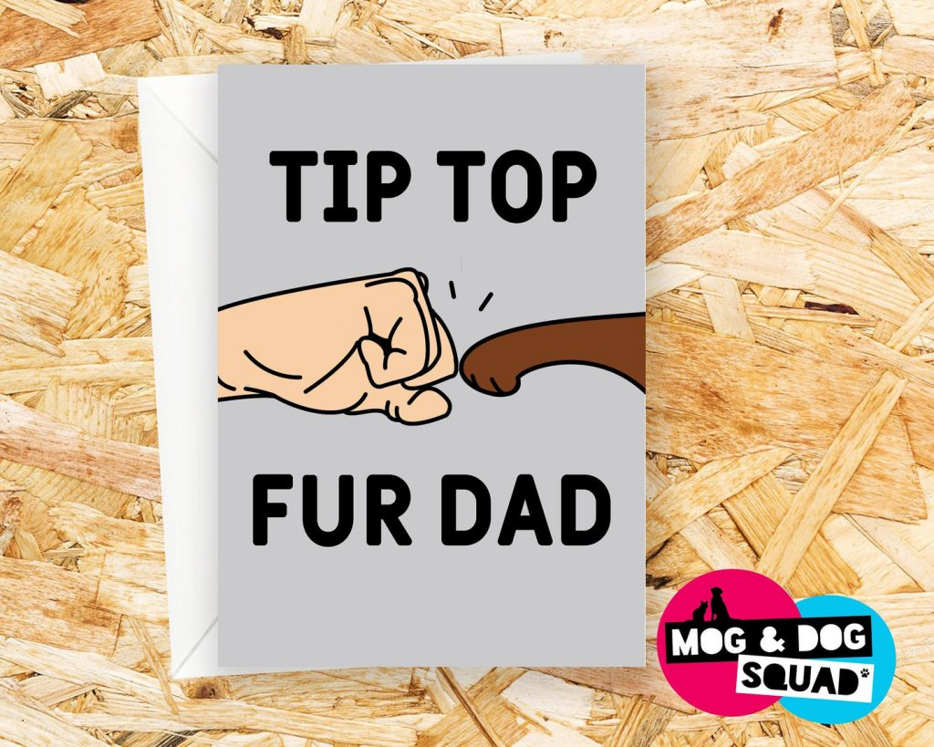 Fist Bump Dog Dad Card (The Squad Store – Etsy)