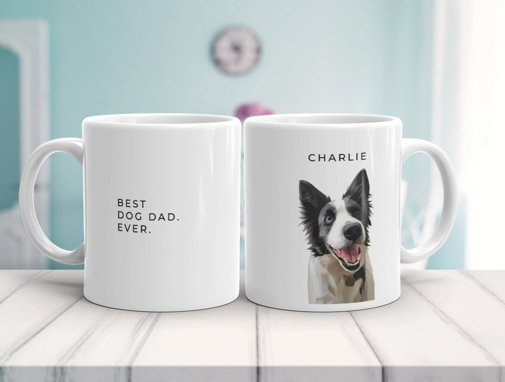 Custom Dog Mug (Wow Pawtraits – Etsy)