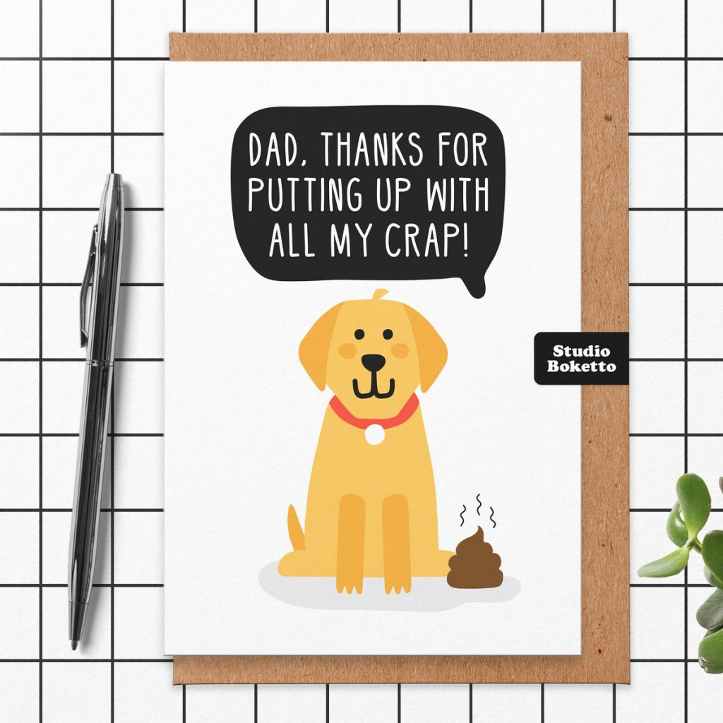 Father's Day Dog Dad Card (Studio Boketto – Etsy)
