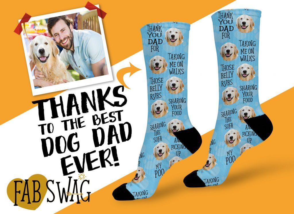 Custom Dog Dad Socks (Fab Swag – Etsy)