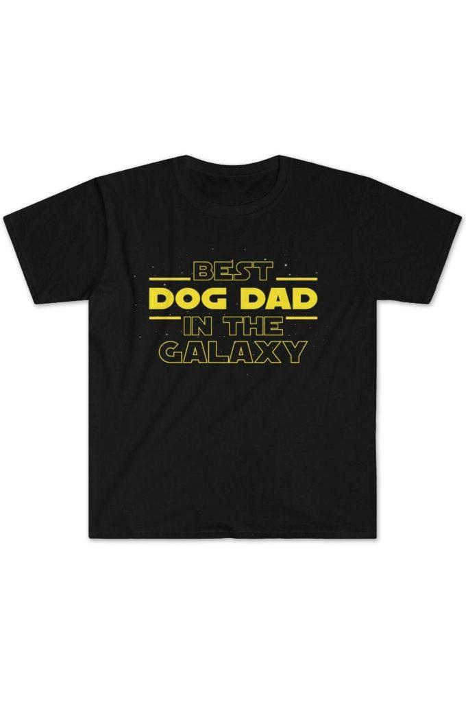 Best Dog Dad in the Galaxy Tshirt (Backyard Peaks – Etsy)