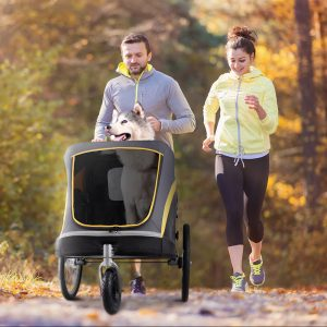 14 Pet Stroller and Wagon Options for Large Dogs (up to 300 lbs!) - feat. the Ibiyaya Hercules Heavy Duty Pet Stroller. Image via Ibiyaya.
